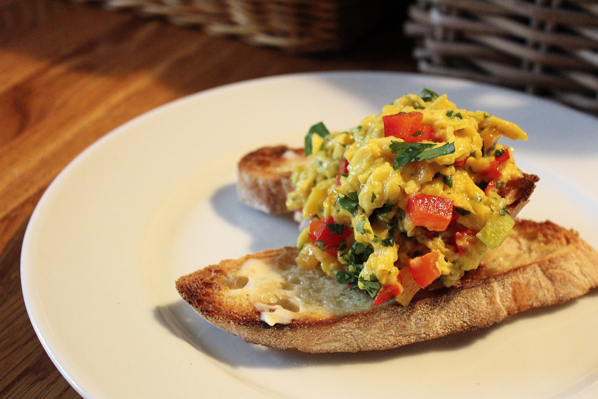 Chilli scrambled eggs