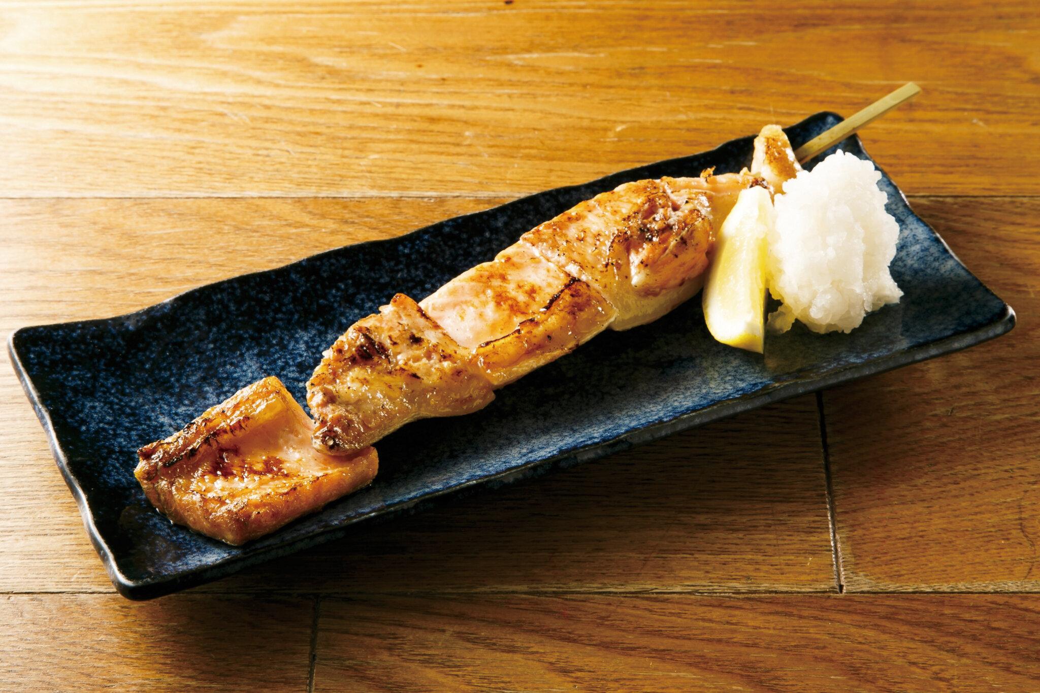 サーモンハラス焼 Grilled Salmon Belly ($10)