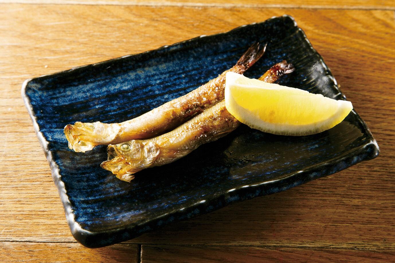 本物のししゃも焼 Grilled Real Shishamo Smelt ($9)