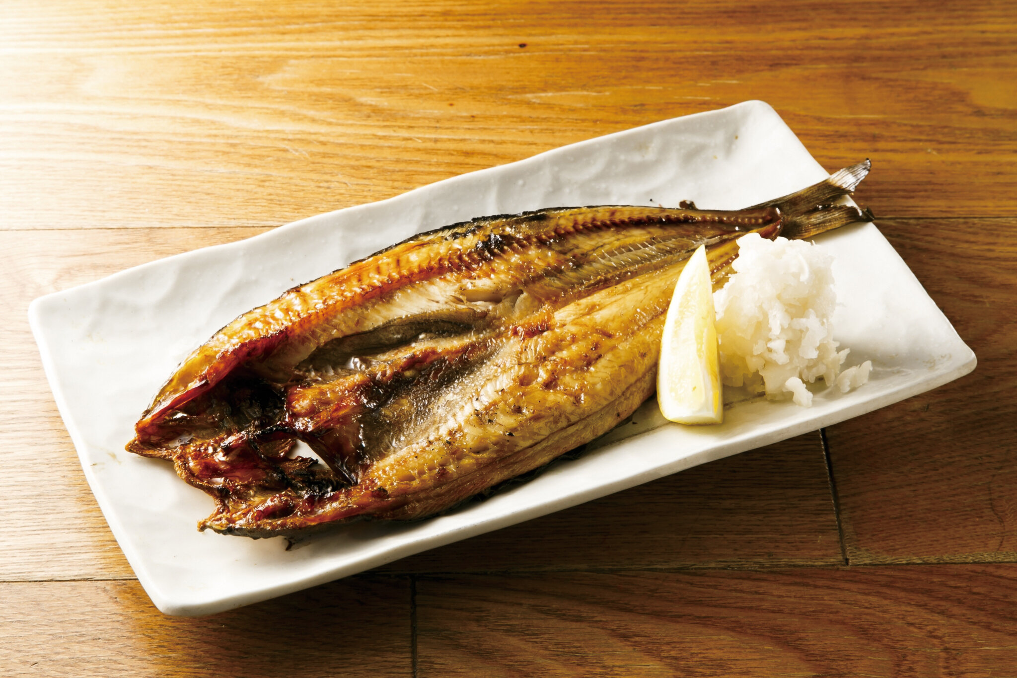 ホッケ焼・丸 Grilled Atka Mackerel Full ($25)