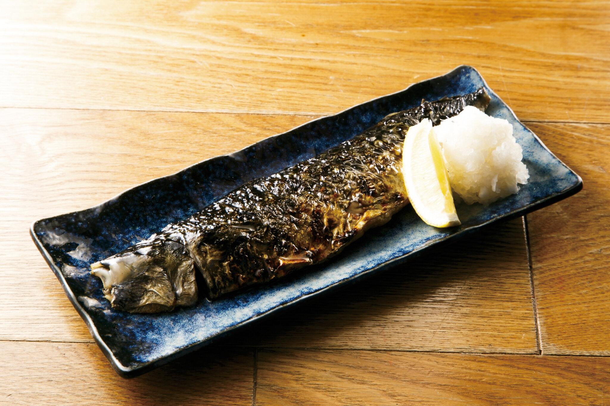 トロ鯖焼 Grilled Mackerel ($12)