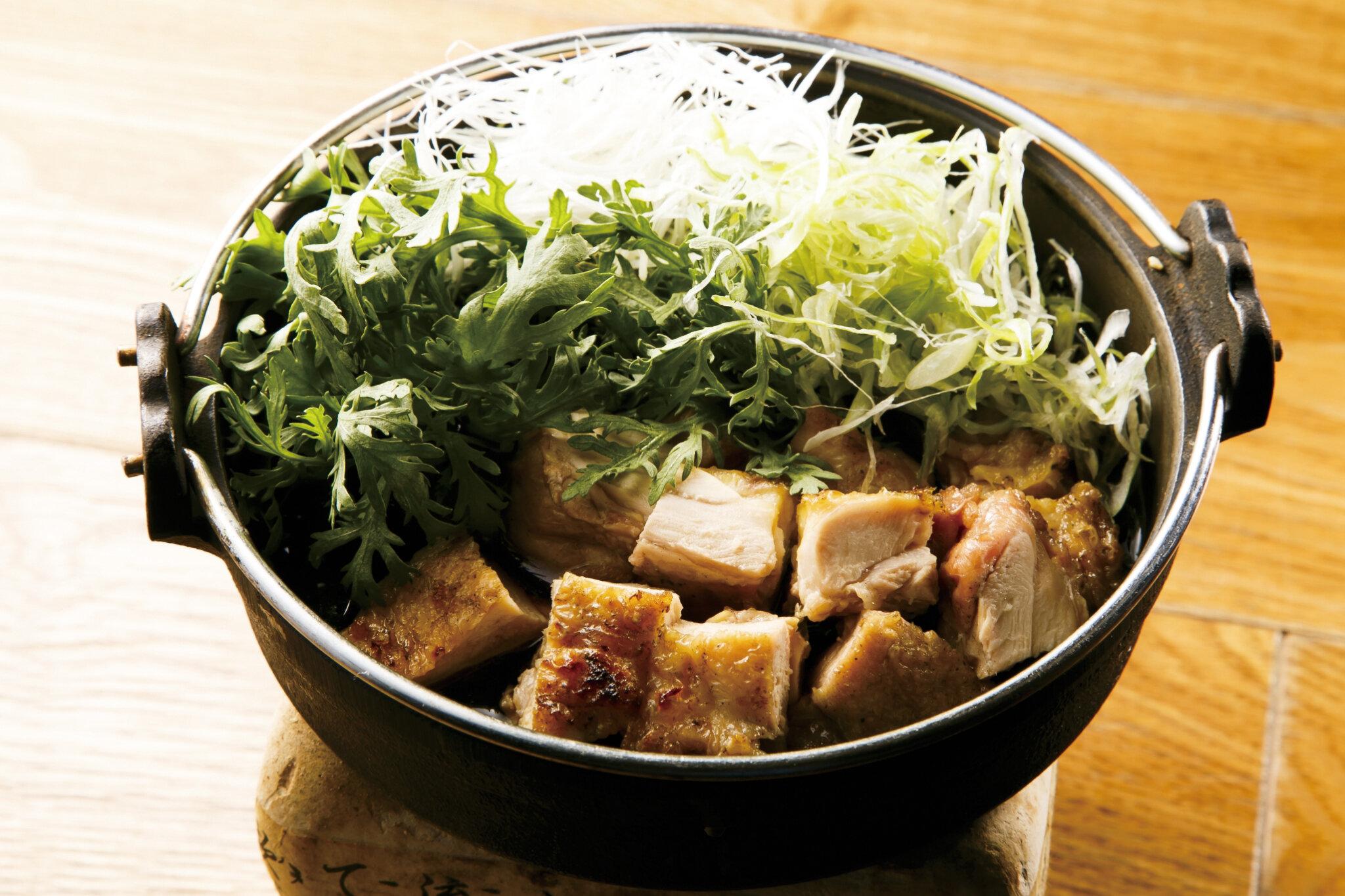 若鶏すき焼き Chicken Sukiyaki ($18)