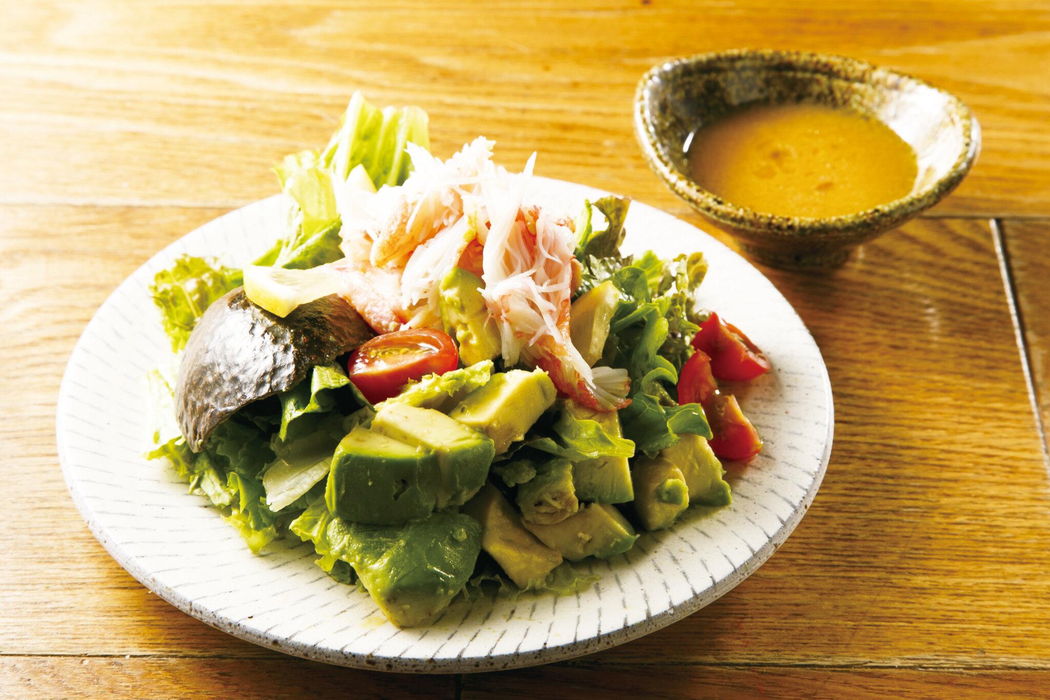 カニとアボカドサラダ Crab & Avocado Salad ($14)