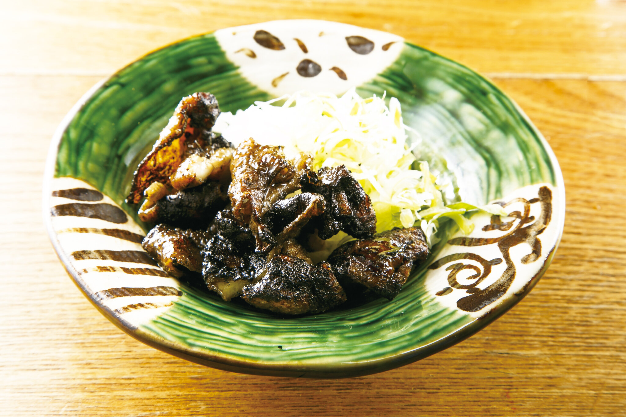 炙り鶏皮ポン Grilled Chicken Skin with Ponzu Sauce ($7)