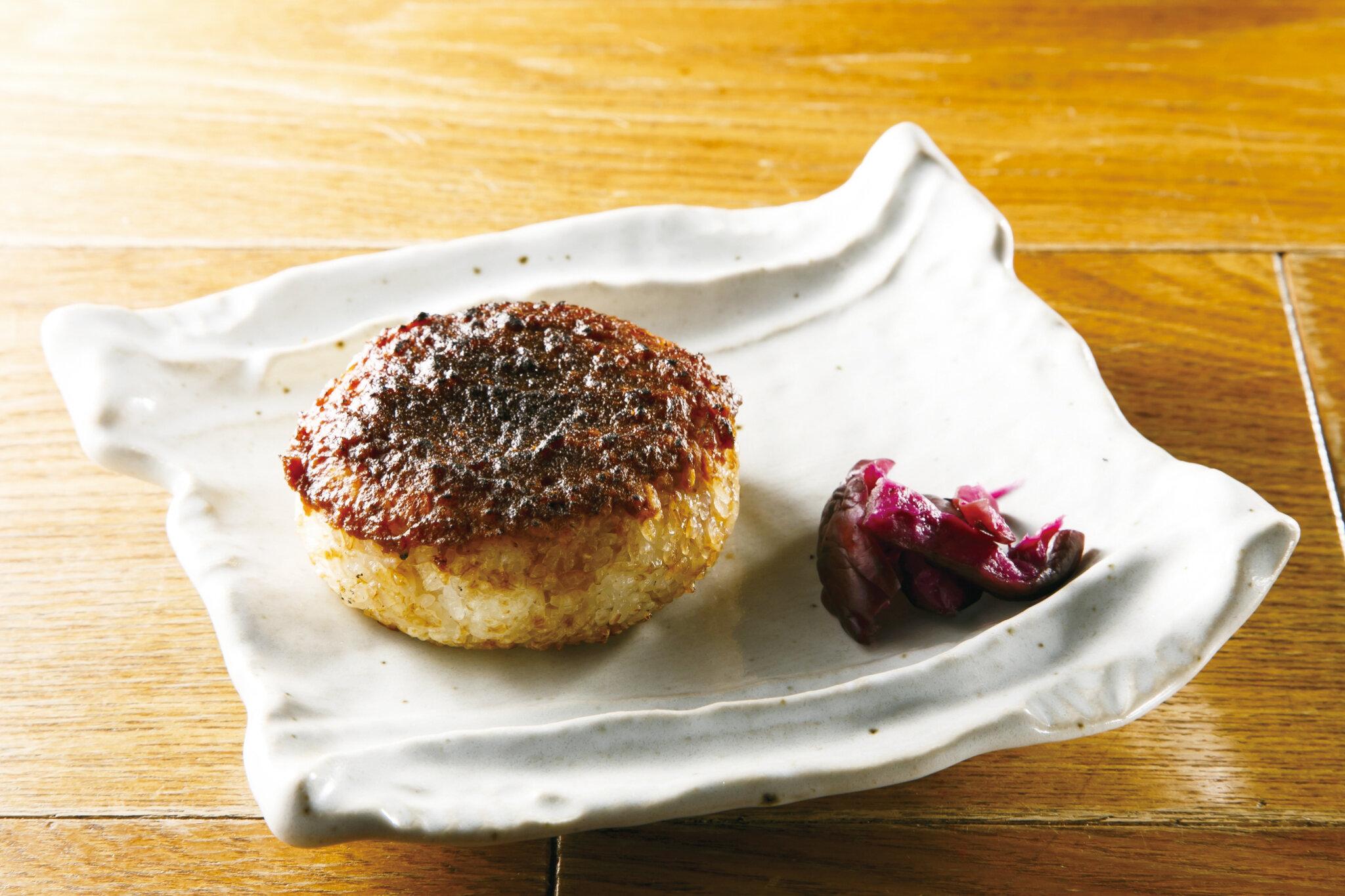 焼おにぎり 味噌 Grilled Riceball with Miso ($5)