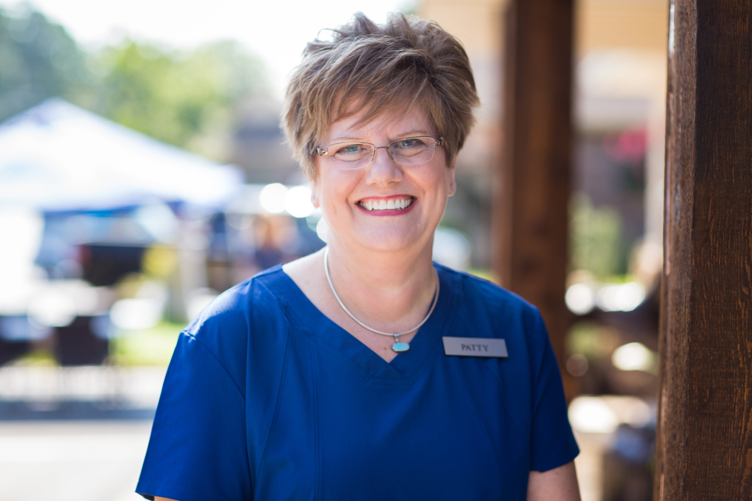 Patty Ninke, Dental Assistant   Patty's been in dentistry since 1981 and joined VDG in 2011. She and her husband, Duane live here in the village where they enjoy many activities the village has to offer. But her favorite is pickleball!