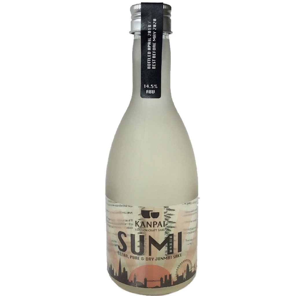 SUMI - Our flagship Tokubetsu Junmai Sake; refreshingly crisp and made using super premium sake rice from Japan...Style: pure, clear, off-dry, smooth & classicFlavour notes: tropical fruits & caramelised nuts14.5% ABVGohyakumangoku Rice - 70% Milled#7 Japanese Sake YeastLast Release: April 2019400mlAwards: IWSC Bronze, Great Taste 1*