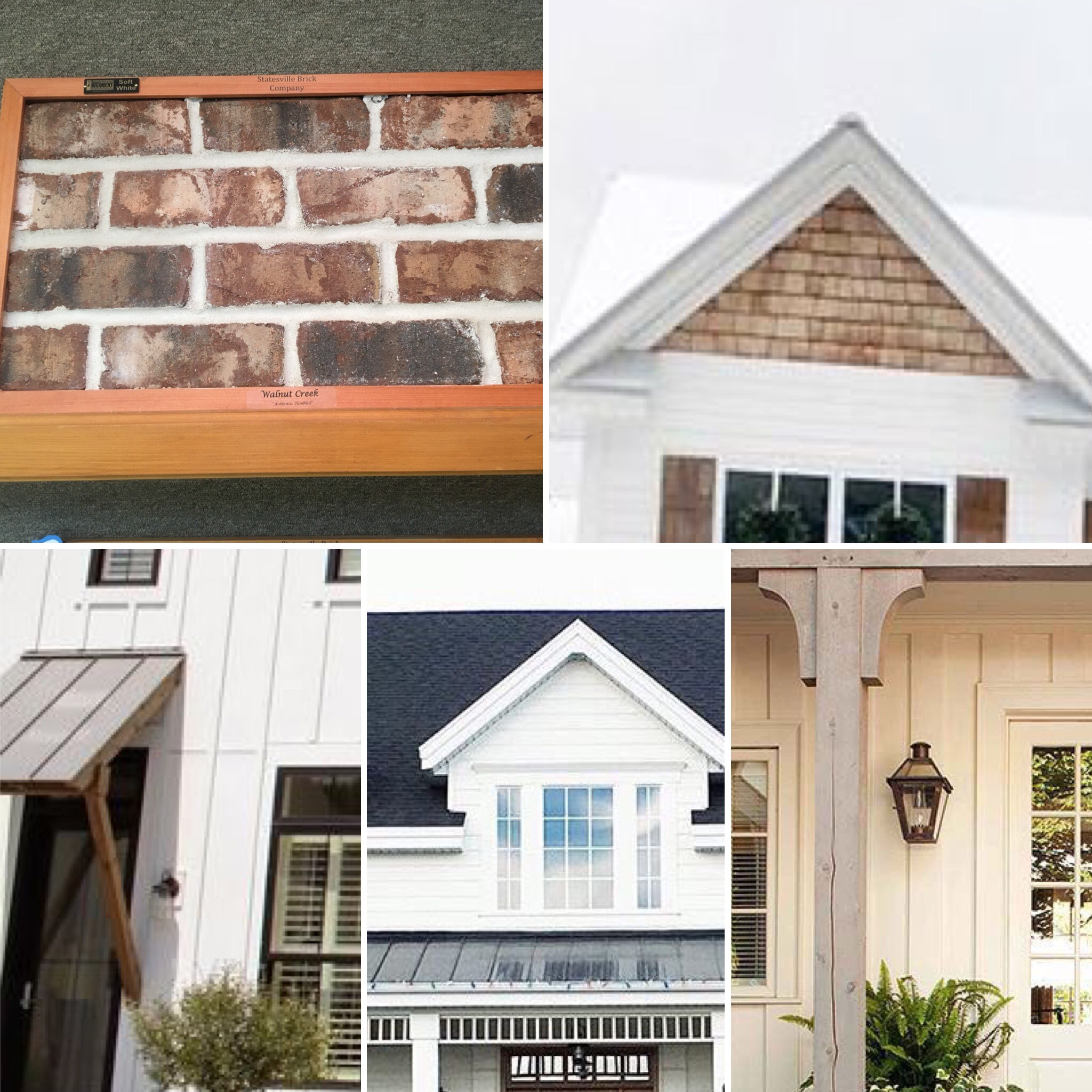 Exterior - Metal & Shingle Roof, neutral brick, cedar shake, vertical lines. Simple yet bold.