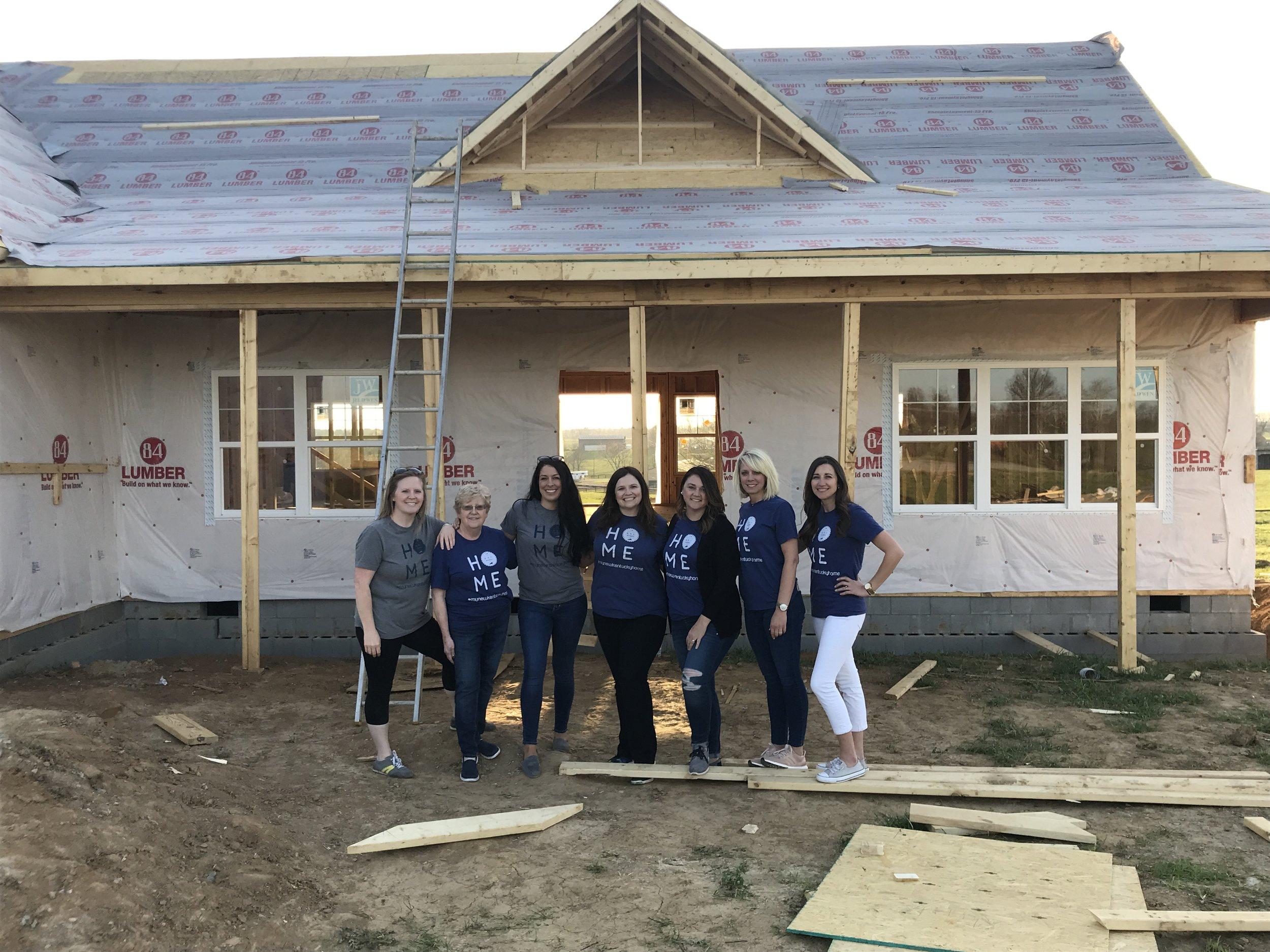 The Hometown Design Team *pictured left to right, Tessa Wagoner, JoEllen Power, Catherine Wilson, Adrien Rutledge, Melissa Miller, Ashley Frazier & Kristy Collins.