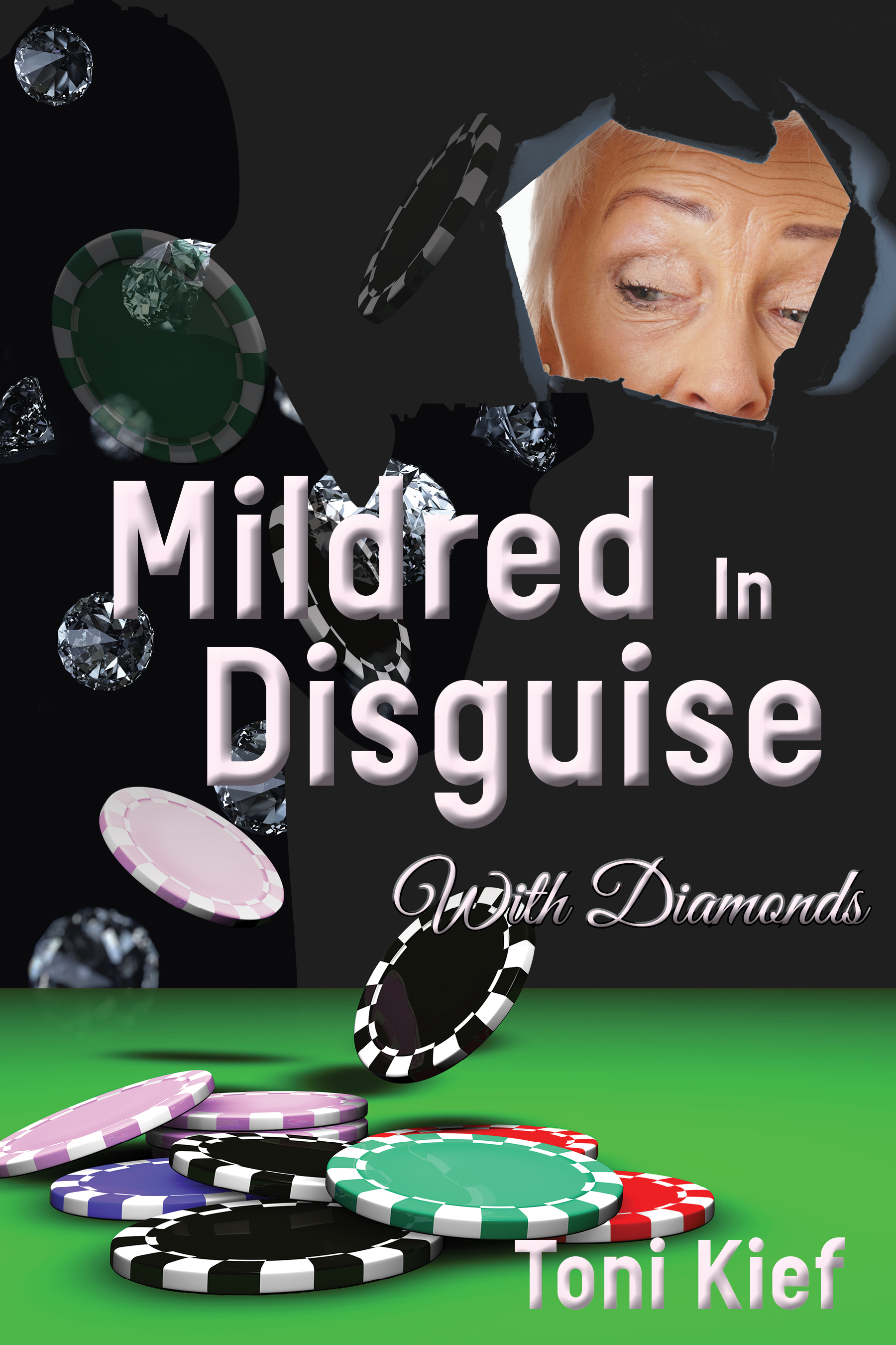Mildred in Disguise with Diamonds  Available in  paperback  and on  Kindle .  Cover artwork and interior layout design provided by Cover&Layout