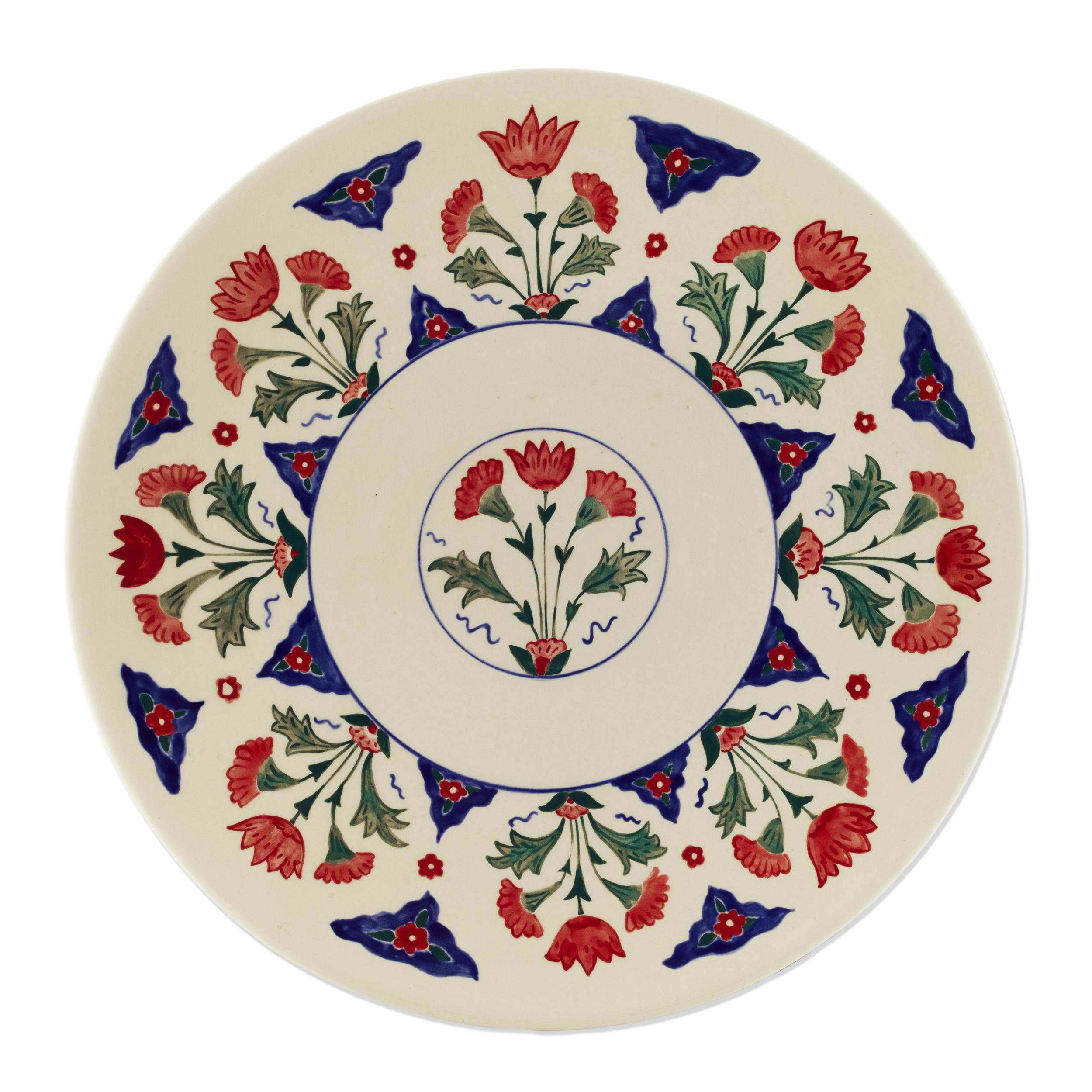 Iznik Plate 1 ~ Islimi, Ottoman Turkish Art, Islamic Art, Pattern Design, Shaheen Kasmani.