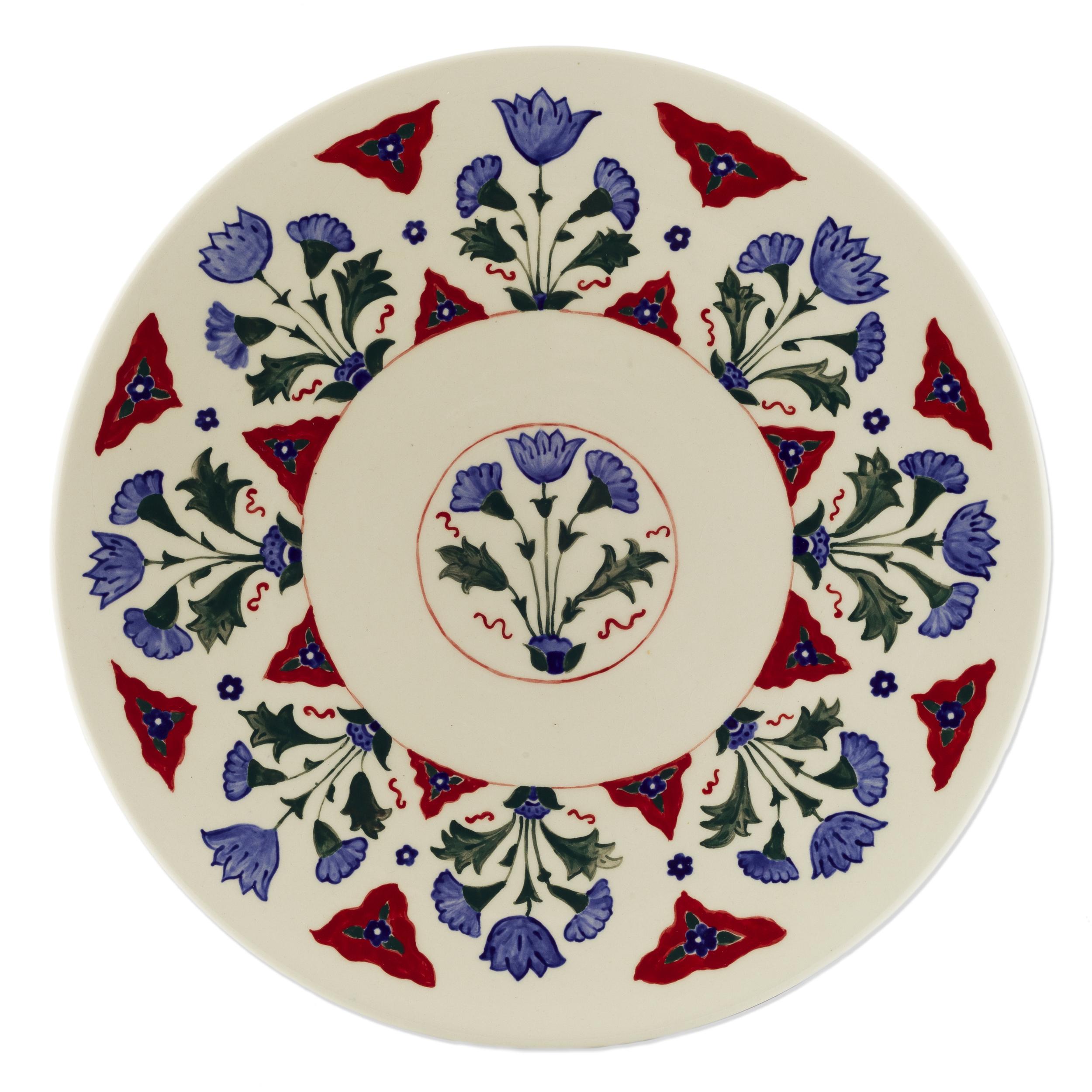 Iznik Plate 2 ~ Islimi, Turkish Ottoman Art, Islamic Art, Pattern Design, Shaheen Kasmani.