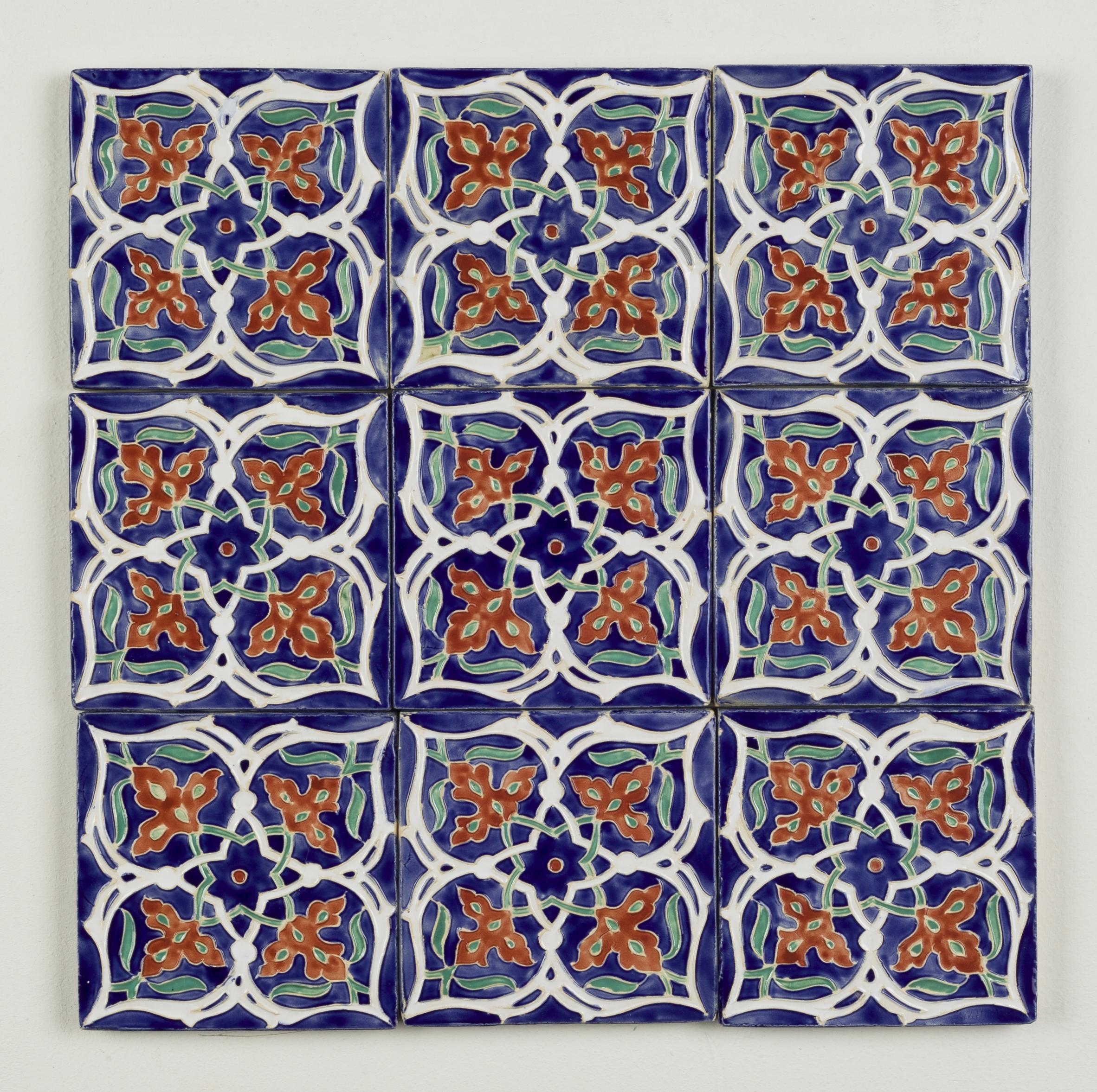 Tiles ~ Persian Art, Islimi, Geometry, Pattern Design, Shaheen Kasmani.