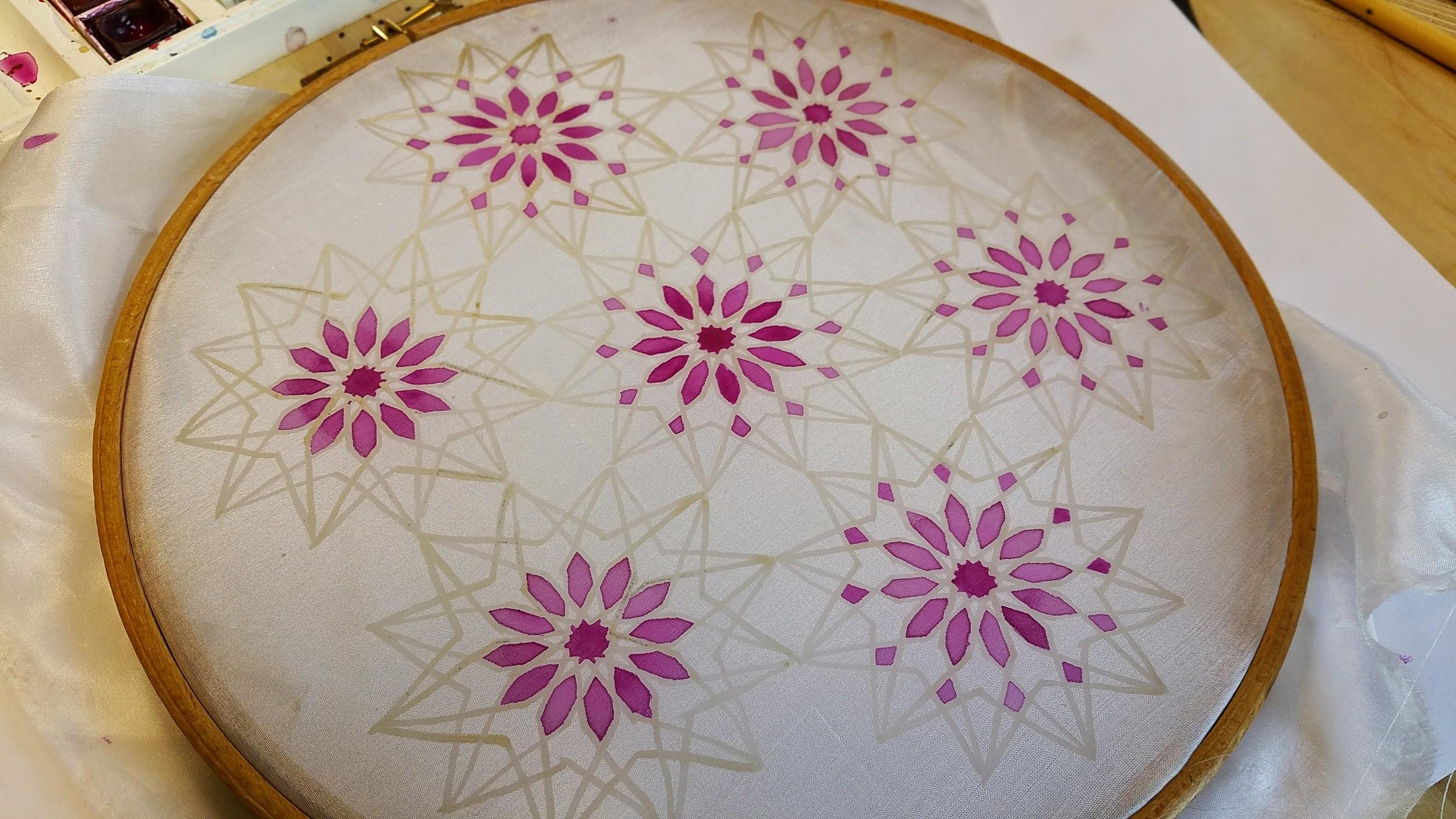Work in Progress ~ Geometry, Islamic Art, Pattern Design, Shaheen Kasmani
