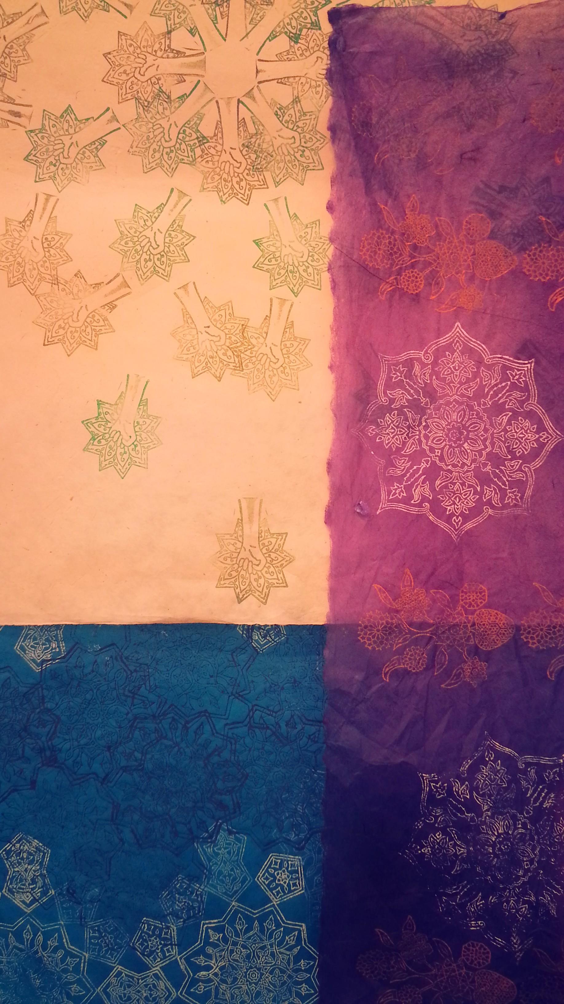 Work in Progress ~ Mughal Art, Indian Art, Persian Art, Textile Art, Pattern Design, Shaheen Kasmani
