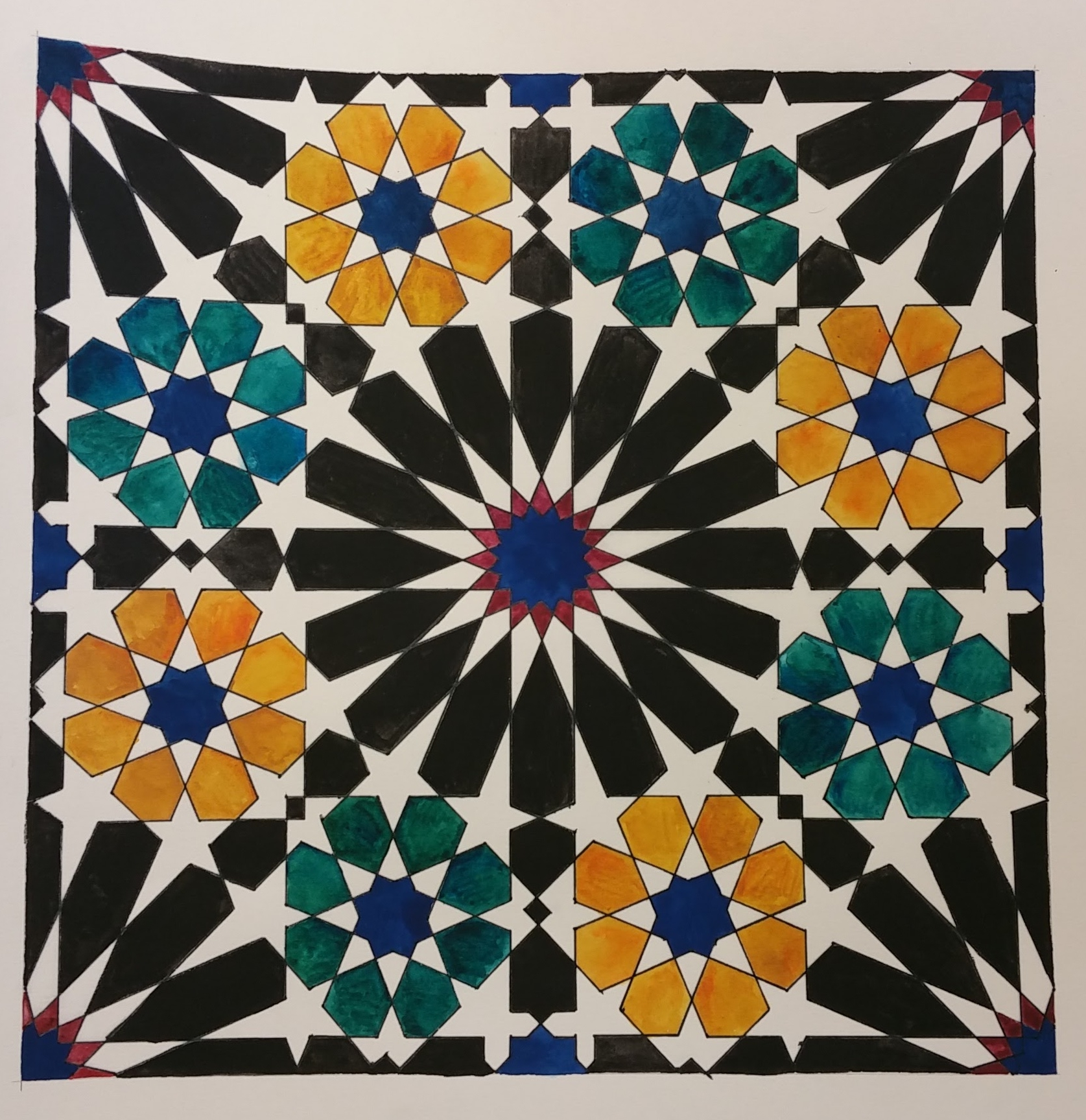 Alhambra Pattern ~ Geometry, Islamic Art, Shaheen Kasmani