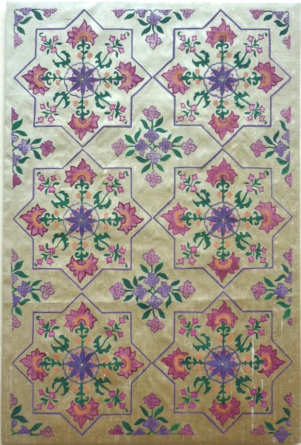 Delhi ~ Mughal Art, Indian Art, Asian Art, Islamic Art, Geometry, Islimi, Pattern Design, Shaheen Kasmani.