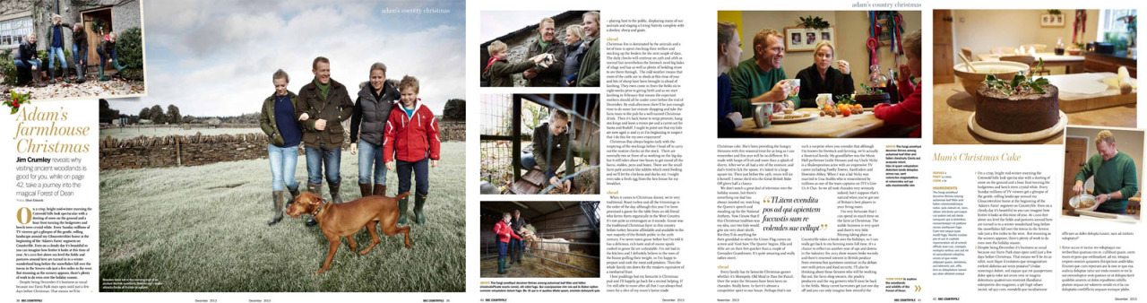 Feature with Adam Henson and family for Countryfile.