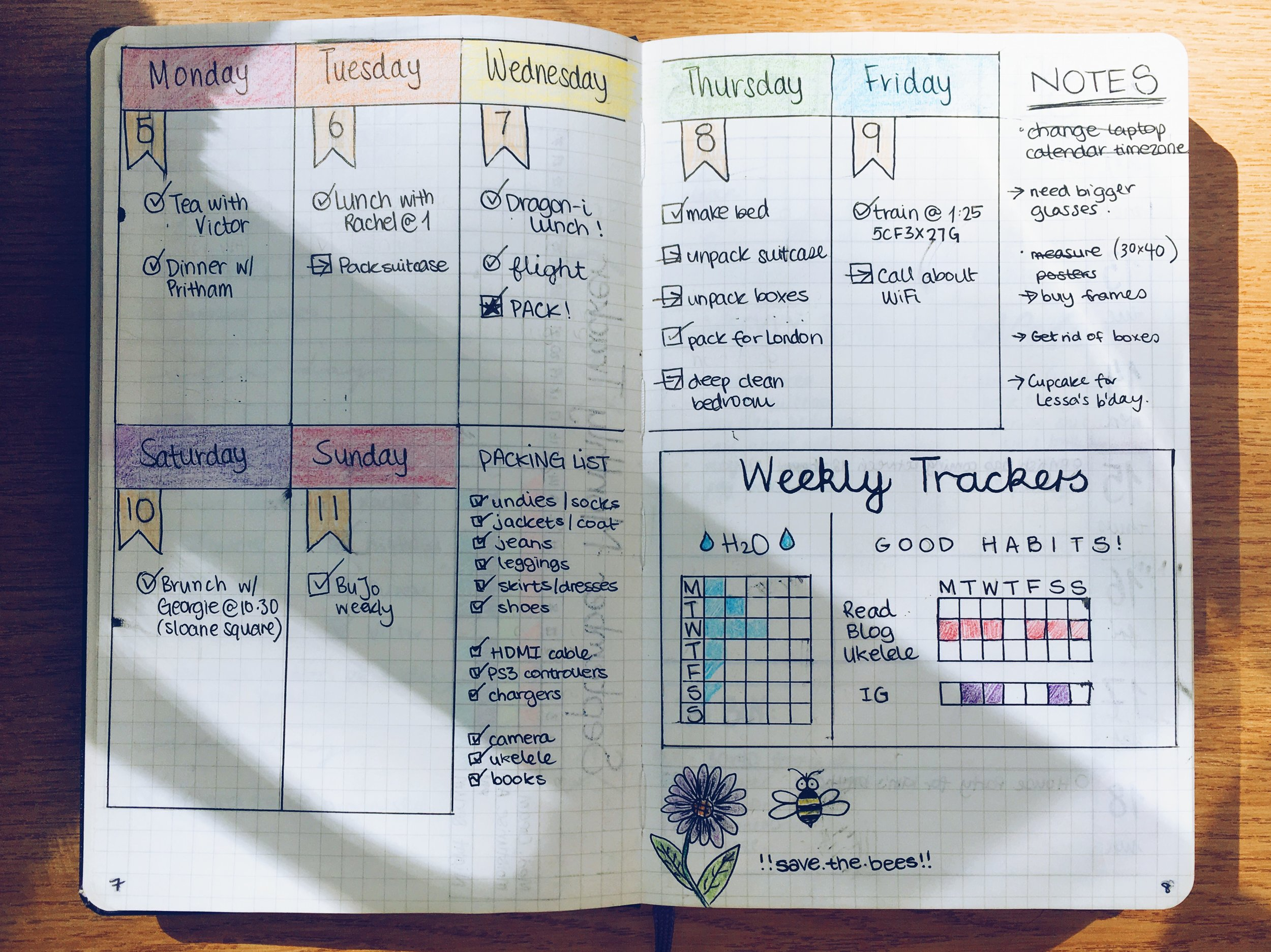 The much better weekly layout.