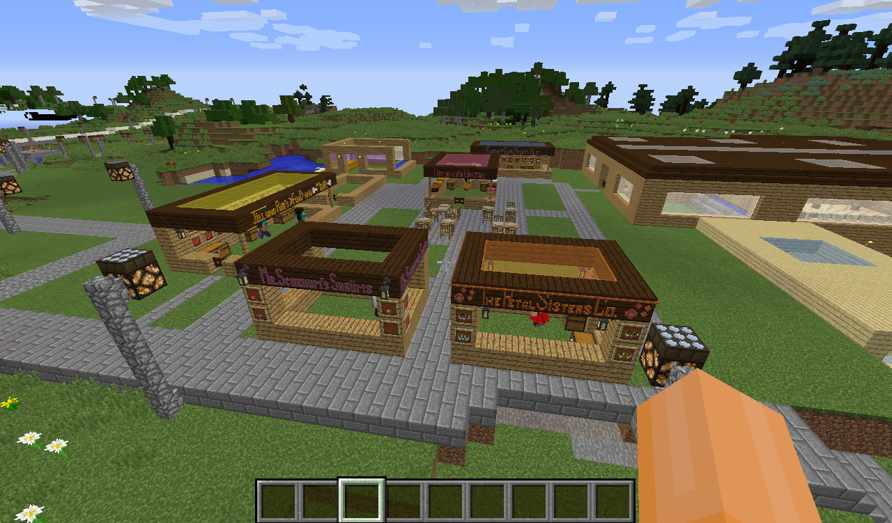 The Marketplace, filled with local farmers!
