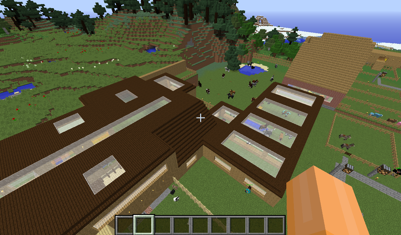 The stables! My pride and joy. Also filled with a ton of horses.