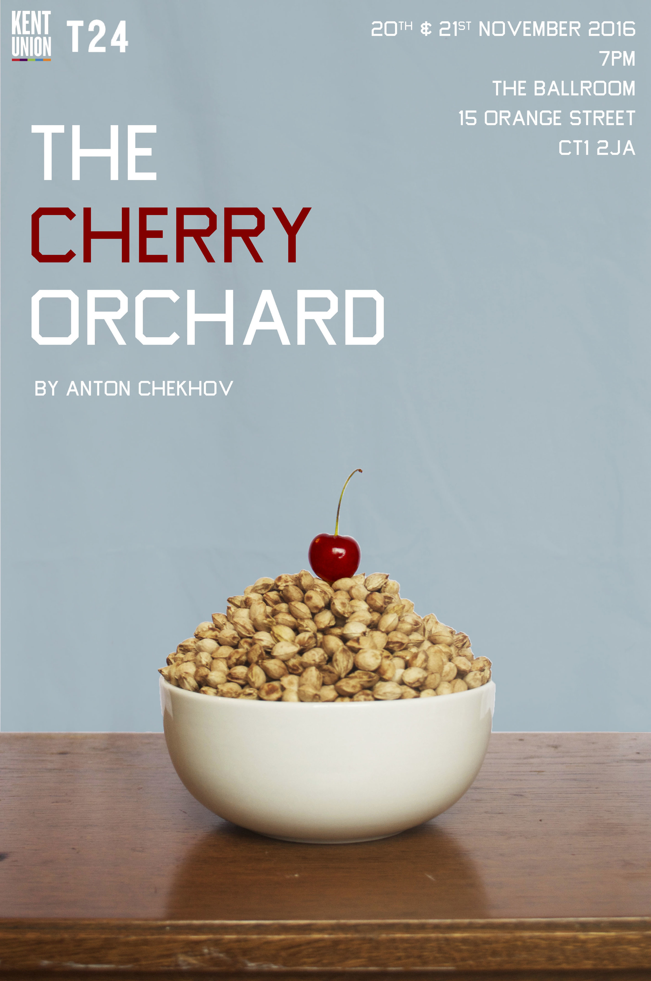 The poster! Fun fact: There are 345 cherry pips in this picture.