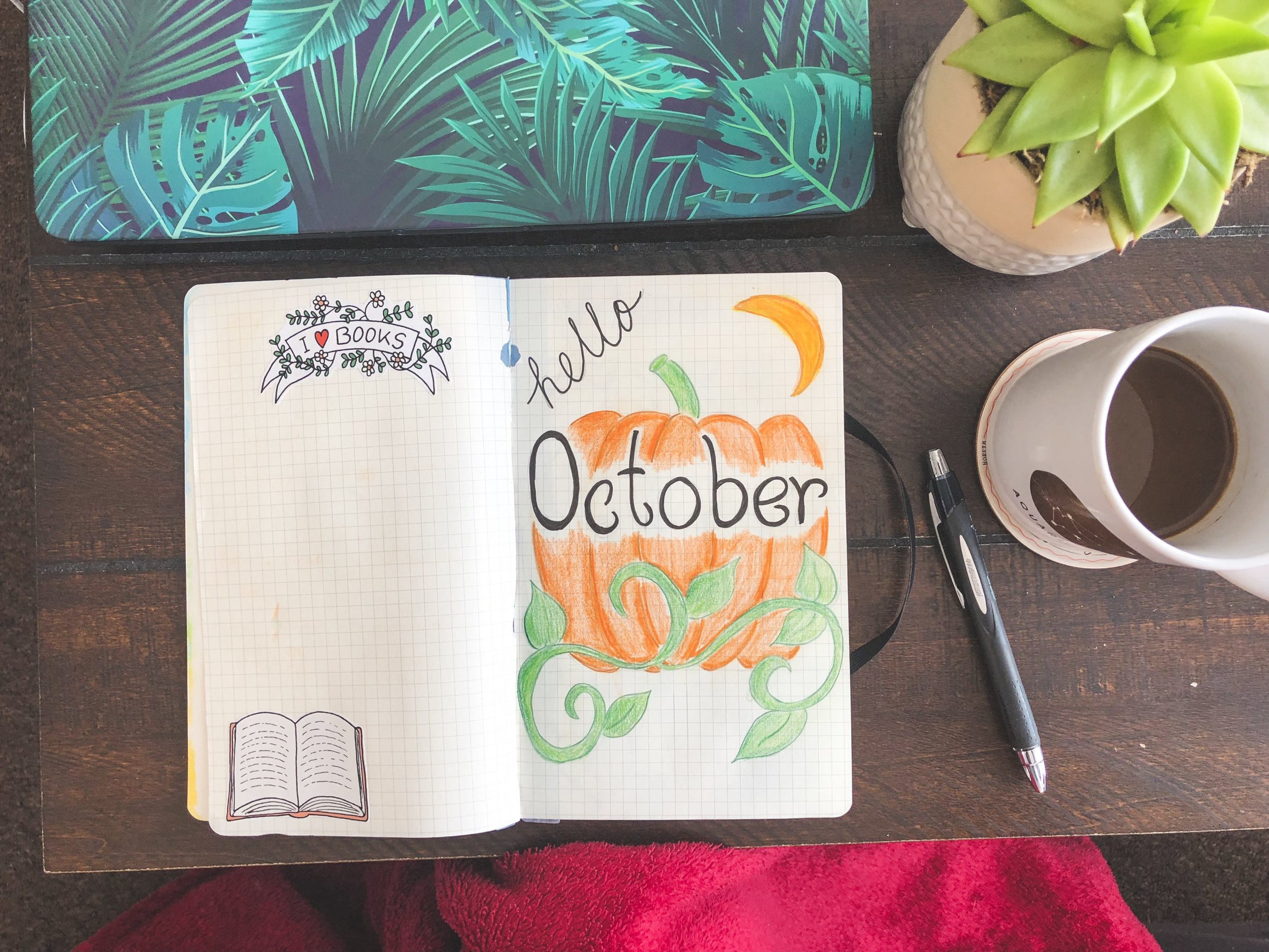 A combination of doodles and stickers liven up my pages! Also, this journal has seen FAR better days, since pages have been pulled out leaving that nifty rip right at the top. Also don't mind the half drunk coffee, blogging life is caffeine fuelled.