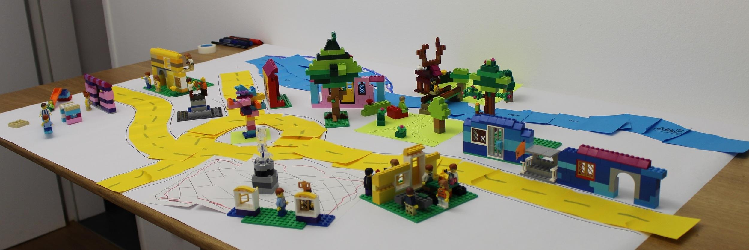 Scrum Mit Lego - Die Legostadt unseres Workshops vom 13. April 16