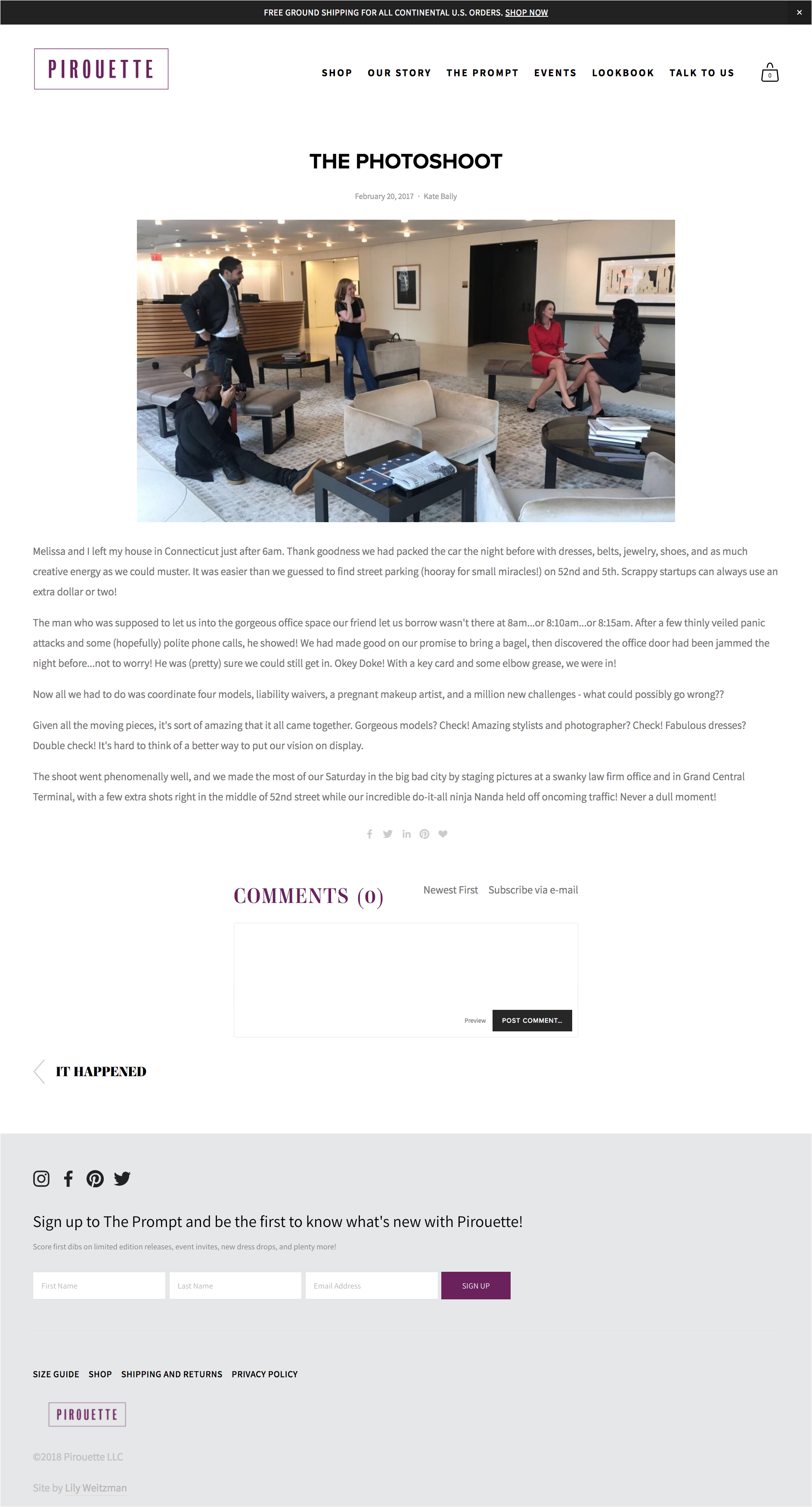 Squarespace e-commerce website