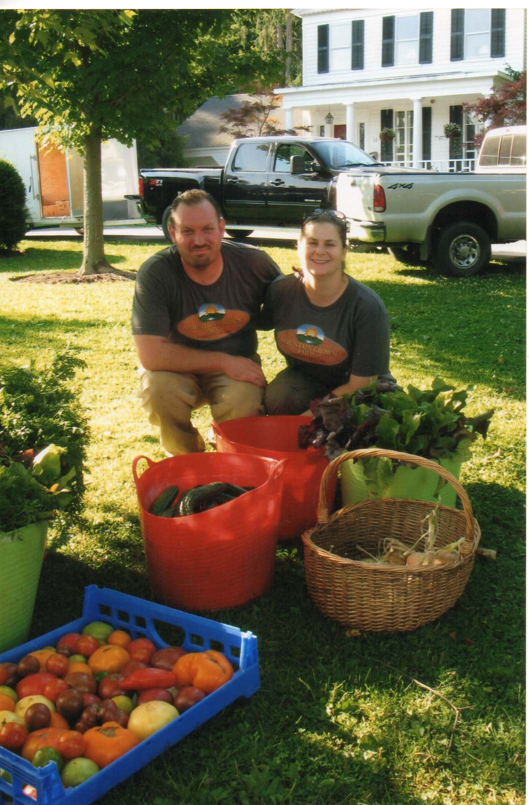 Farmers Kevin and Lacey in Cazenovia, NY in 2014.