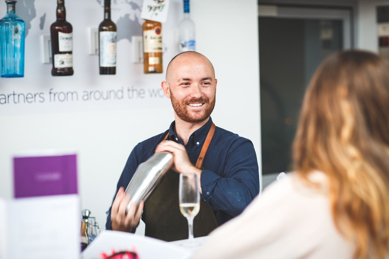 Virgin Airways lounge cocktail bar