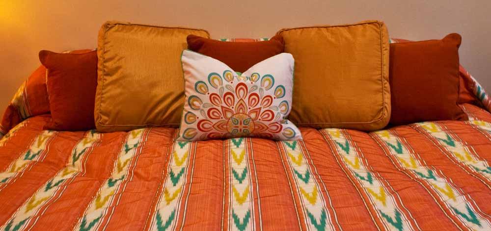 custom bedding design by Tiffany Gholar