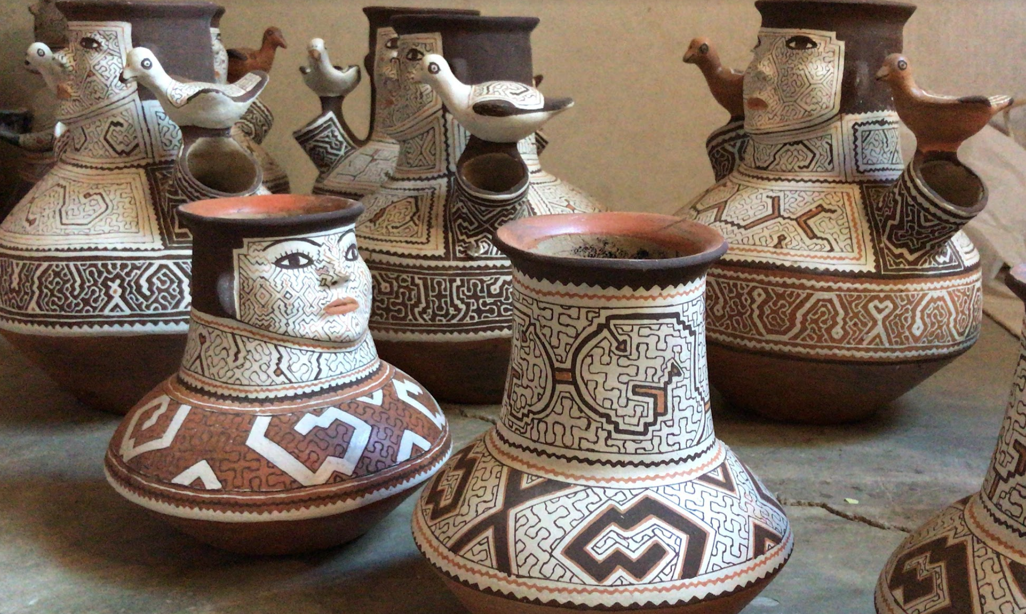 Some of the sculptures that I was talking about. I believe that these, more than anything else, showcases the Shipibo tradition and best represent what values and ideas that they hold dear. They are mainly used for decorative purposes.