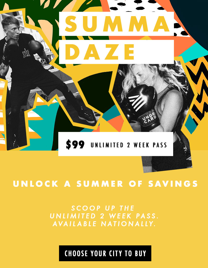 Special SUMMA DAZE Pass at UNDRCARD Boxing Studio!
