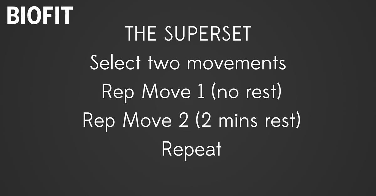 natural fitness bio fitness superset training