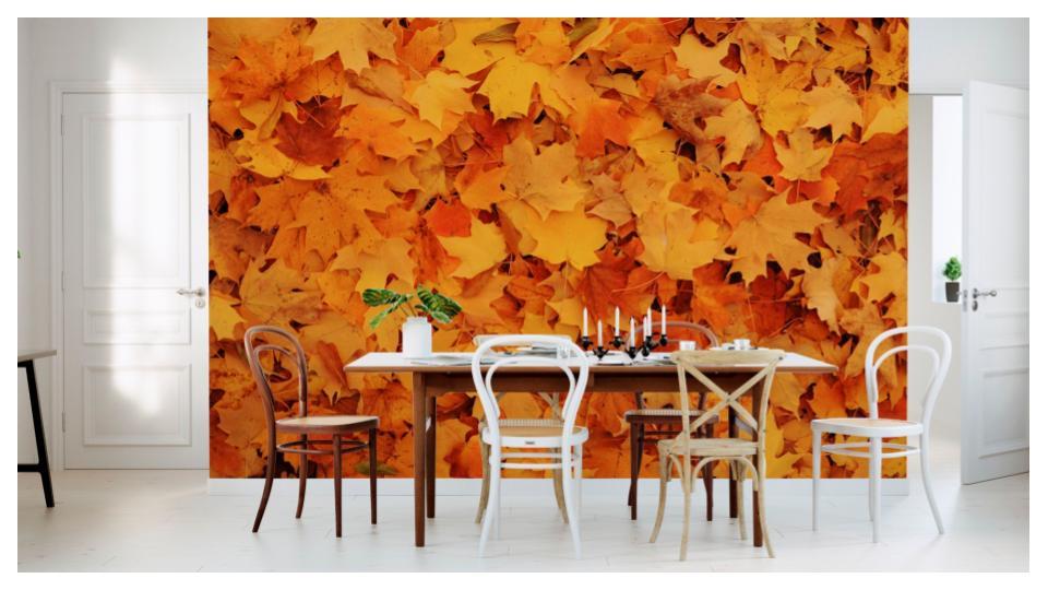 Photowall biophilic mural Bed of Autumn Maple Leaves e24602.jpg