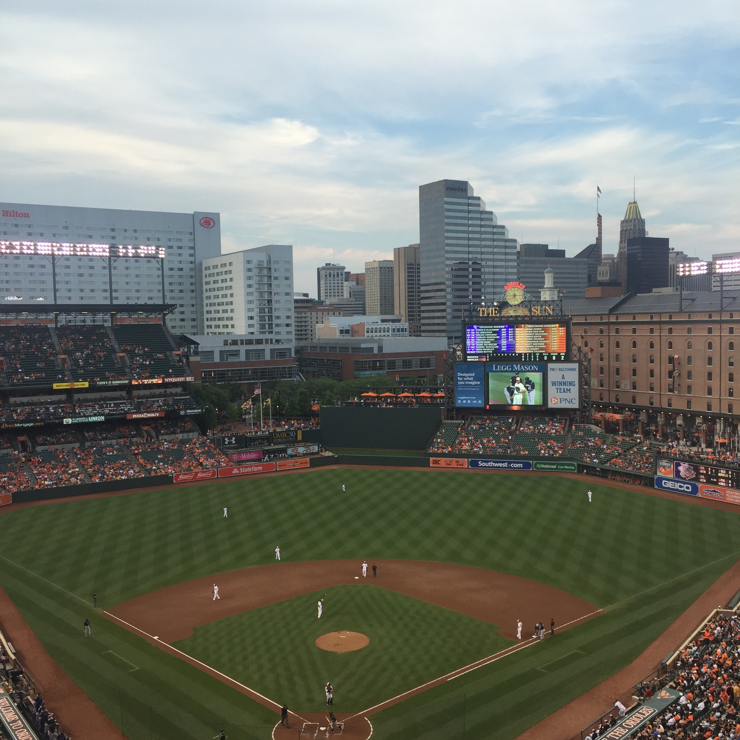 The view at our seats. Talk about #behindhomeplate