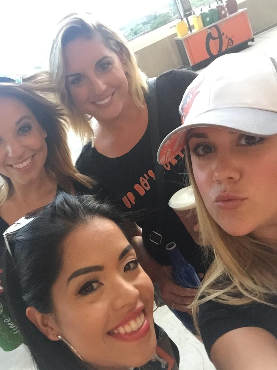 Told you! #selfietime Caitlin, Jess, Samantha and Ashley