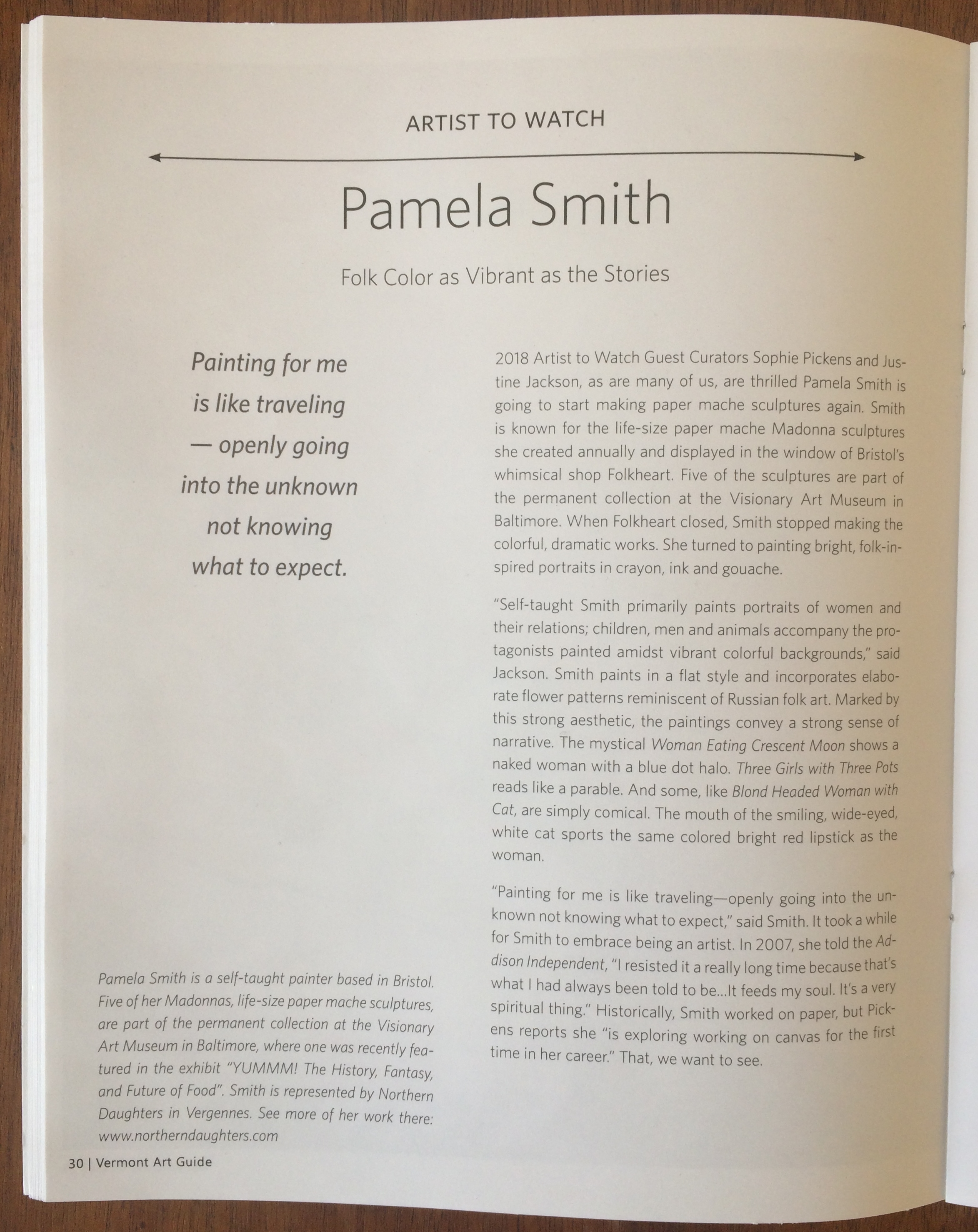 Pamela Smith Vermont Art Guide