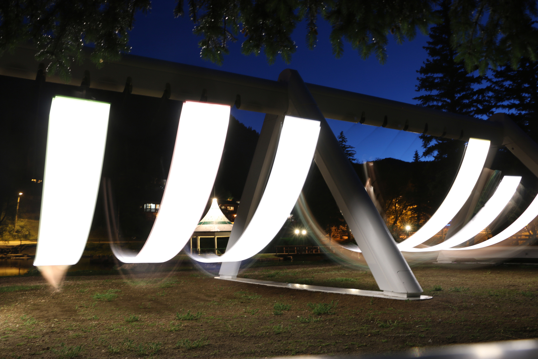 Musical Swings at night