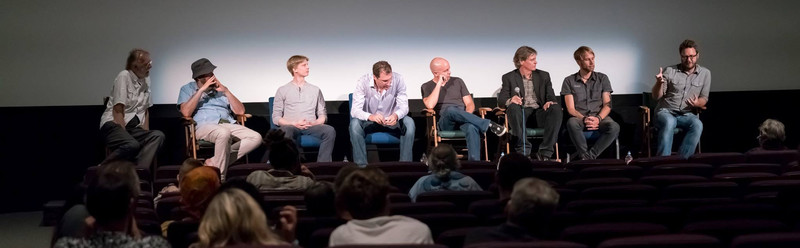 2016 Q&A Panel (Aero Theater Santa Monica, CA) - Including  Godfrey Reggio  (far left) and  Gunther Wegner  (second from right) and  Casey Kiernan  (third from right) Festival Creator/Director,  Jeff Frost  ((fourth from right)
