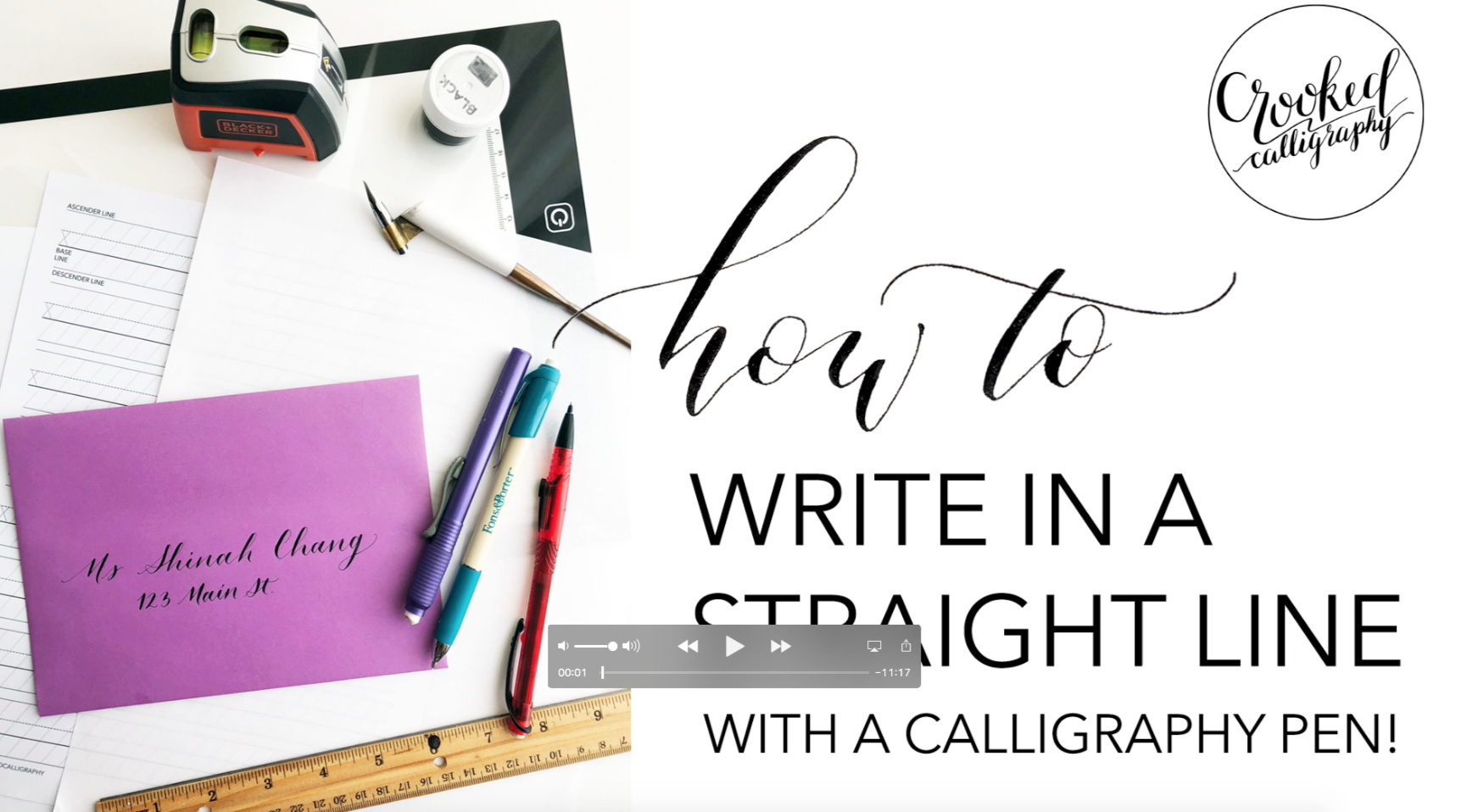 How to Write in a Straight Line