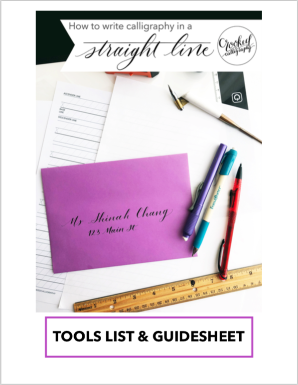 Tools for Writing in a Straight Line