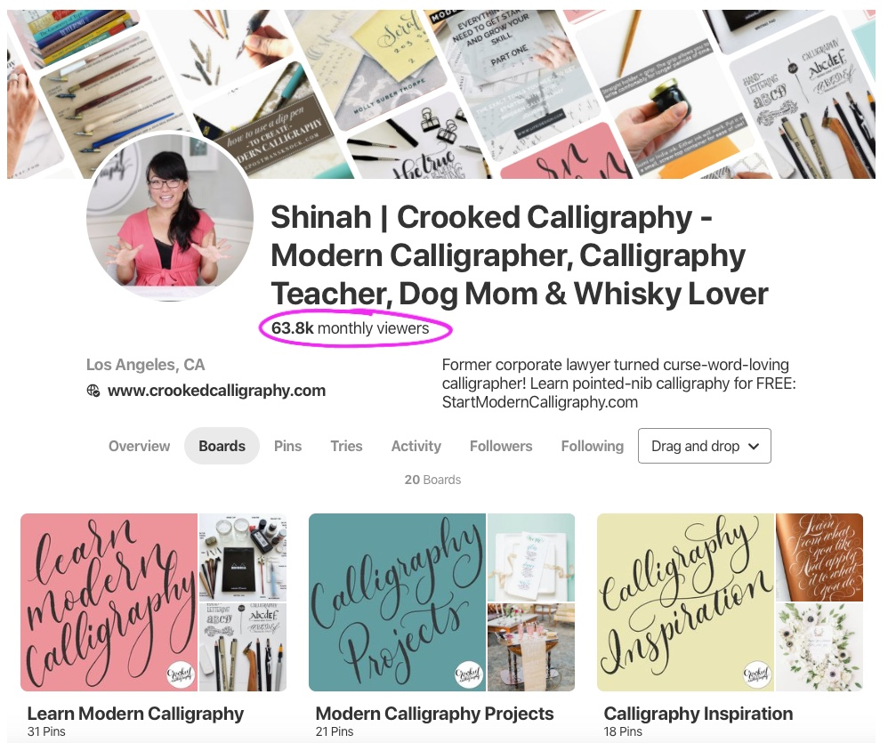Crooked Calligraphy Pinterest Profile Strategy.png