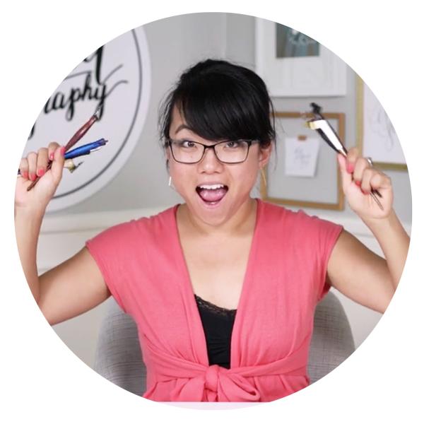 Shinah Chang Happy Modern Calligrapher