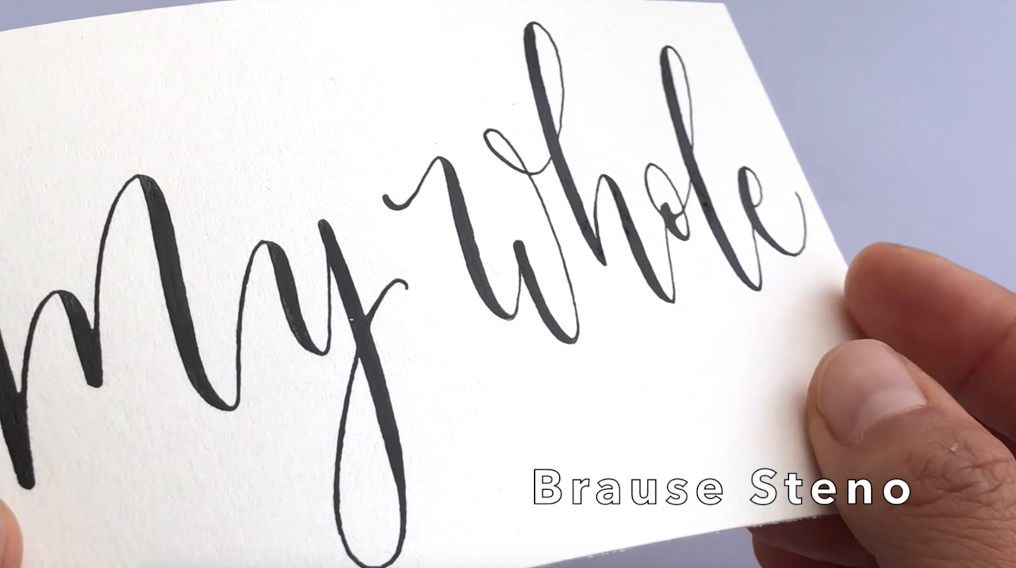 Brause Steno Nib Large Calligraphy on Shiny Paper.png