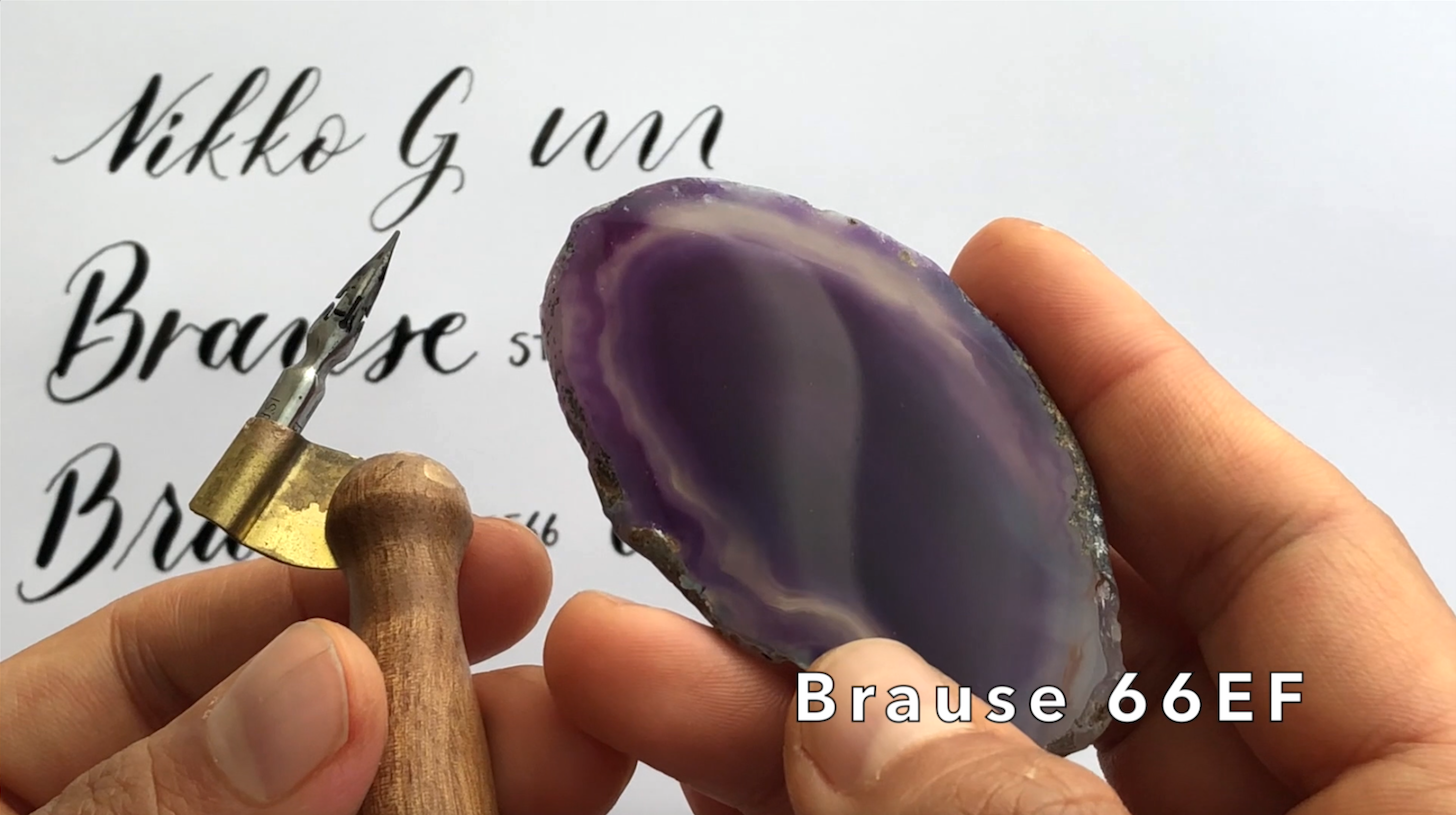 Brause EF66 Nib calligraphy on agate.png