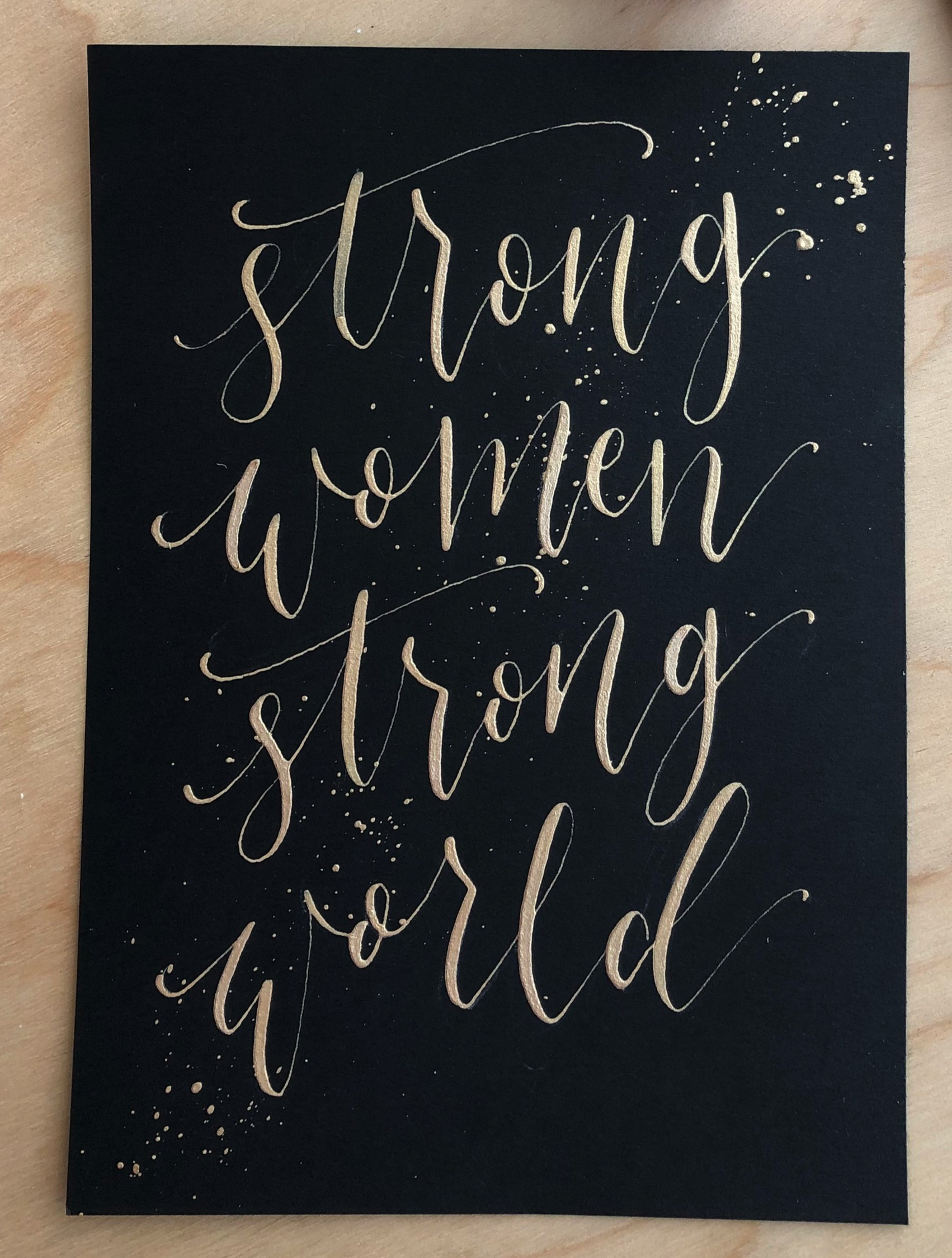 Calligraphy+with+ink+splatters