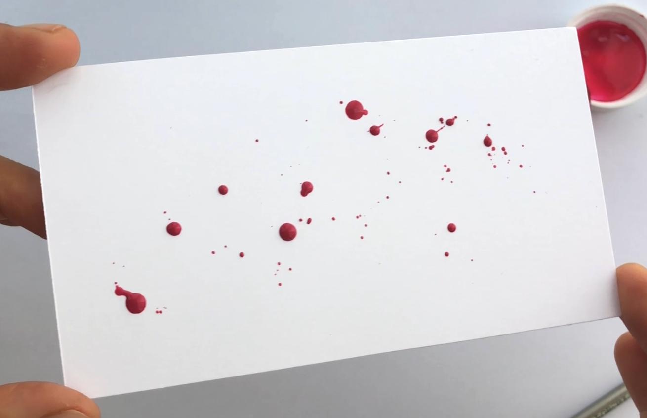 Large ink splatters