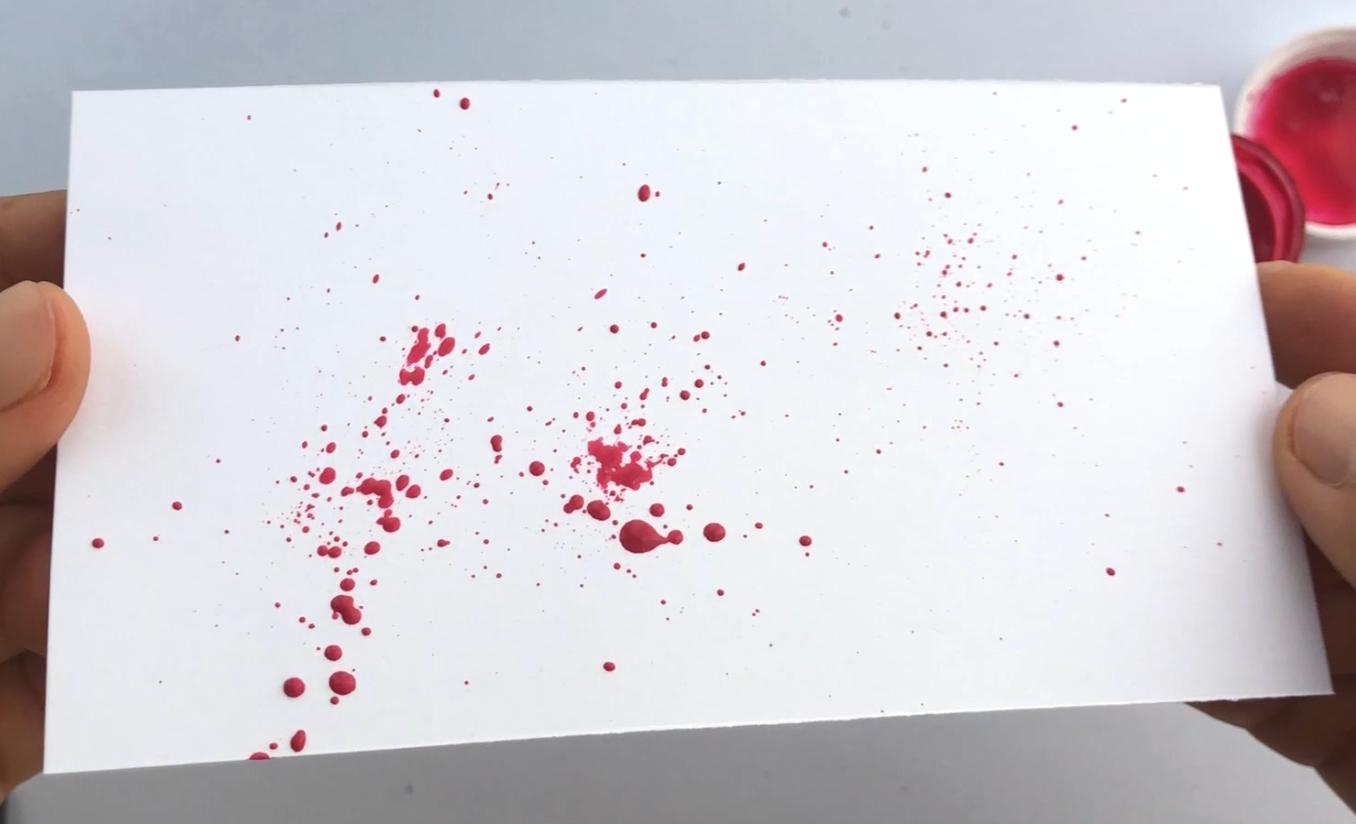 calligraphy ink splatters